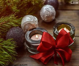 Jogos De Quebra Cabeca Da Velas De Natal Para Imprimir