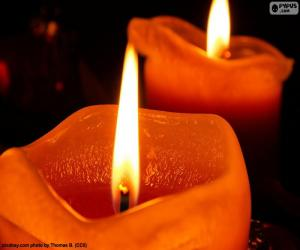 Puzle Duas velas de Natal