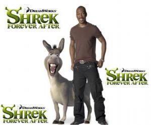 Puzle Eddie Murphy prevê a voz do Burro, o mais recente filme Shrek para Sempre