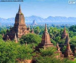 Puzle Edifícios religiosos de Bagan, Myanmar