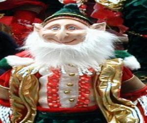 Puzle Elfo de Natal com orelhas pontiagudas e chapéu pontiagudo
