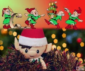Puzle Elfos de Natal