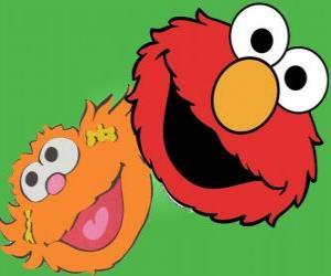 Puzle Elmo e Zoe