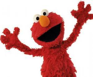 Puzle Elmo, sorrindo