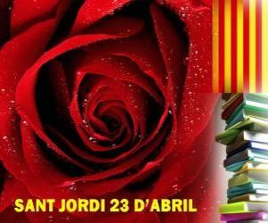 Puzle Em 23 de abril, Dia de São Jorge é comemorado na Catalunha a Festa do Livro e da Rosa