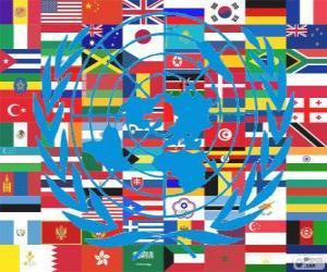 Puzle Em 24 de Outubro é o Dia das Nações Unidas, em comemoração a sua fundação em 1945
