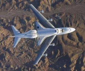 Puzle Endevor Space Shuttle realizado em um 747