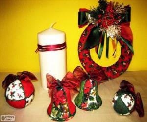 Puzle Enfeites de Natal sortidos