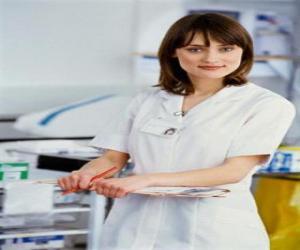 Puzle Enfermeira que trabalha no hospital