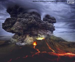 Puzle Erupção vulcânica