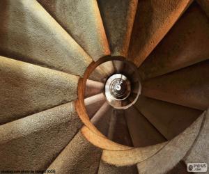 Puzle Escada em espiral