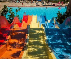 Puzle Escorregador parque aquático