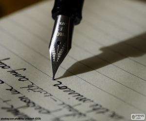 Puzle Escrever com uma caneta-tinteiro