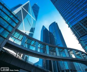 Puzle Escritórios de edifícios Hong Kong