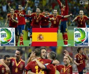 Puzle Espanha Copa das Confederações FIFA de 2013