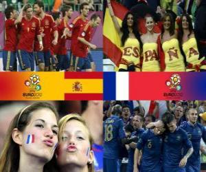 Puzle Espanha - França, quartas, Euro 2012