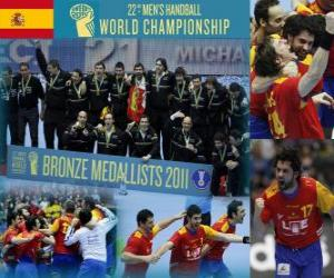 Puzle Espanha, medalha de bronze no Mundial de Handebol 2011