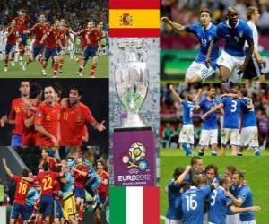 Puzle Espanha vs Itália. Final Euro 2012