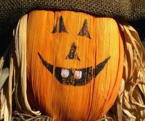 Puzle Espantalho de Halloween