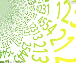 Puzle Espiral de números
