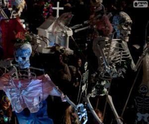 Puzle Esqueletos de Halloween
