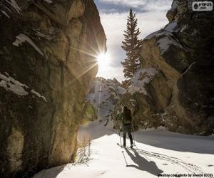 Puzle Esqui de montanha