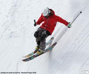 Puzle Esquiador decrescente
