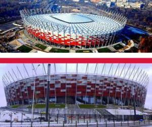 Puzle Estádio Nacional em Varsóvia (58.145), Varsóvia - Polônia