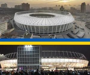 Puzle Estádio Olímpico de Kiev (69.055), Kiev - Ucrânia