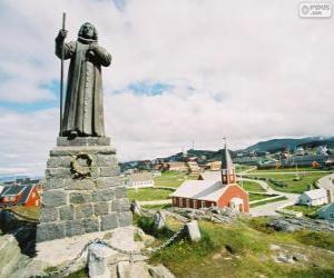 Puzle Estátua de Hans Egede, Nuuk, Gronelândia