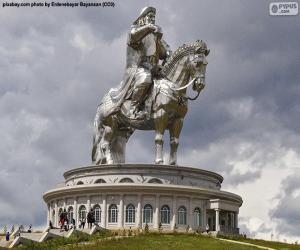 Puzle Estátua equestre de Genghis Khan, Mongólia
