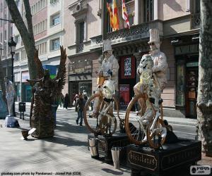Puzle Estátuas humanas, Barcelona