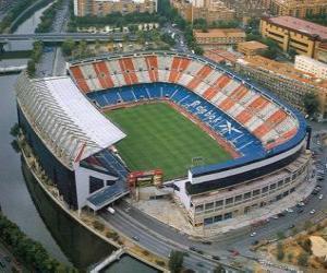 Puzle Estádio de Atlético de Madrid - Vicente Calderón -