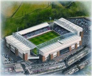 Puzle Estádio de Blackburn Rovers F.C. - Ewood Park -