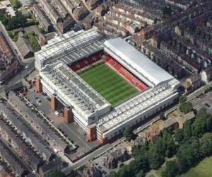Puzle Estádio de Liverpool F.C. - Anfield -