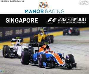 Puzle Esteban Ocon, GP de Singapura 2016