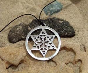 Puzle Estrela de Davi ou Estrela de David, conhecida como Escudo supremo de Davi