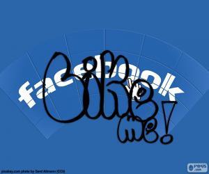 Puzle Eu gosto, Curtir, Facebook