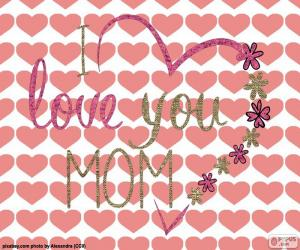 Puzle Eu te amo mãe