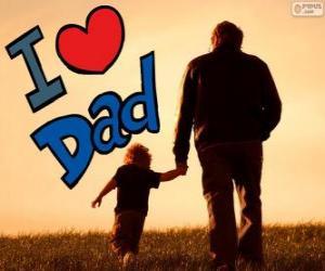 Puzle Eu te amo pai