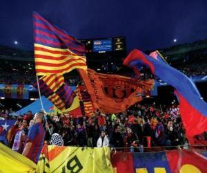 Puzle F. C. Barcelona bandeira