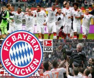 Puzle F. C. Bayern Munich, campeão da Bundesliga 2012-13
