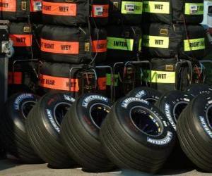 Puzle F1 pneus