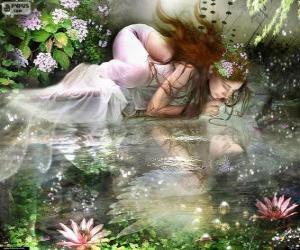 Puzle Fada Ondina, são ninfas aquáticas de beleza espetacular