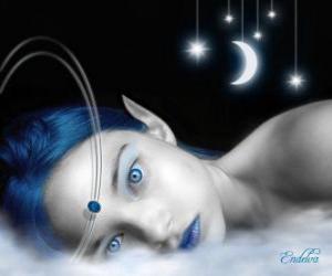 Puzle Fairy olhos azuis