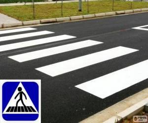 Puzle Faixa de segurança ou faixa de pedestres (br) ou passagem de peões ou passadeira (pt)