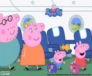Puzle Família de férias Peppa Pig