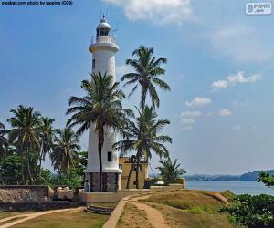 Puzle Farol em Galle, Sri Lanka