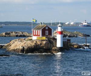 Puzle Farol Gaveskar, Suécia