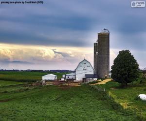 Puzle Fazenda em Wisconsin, Estados Unidos